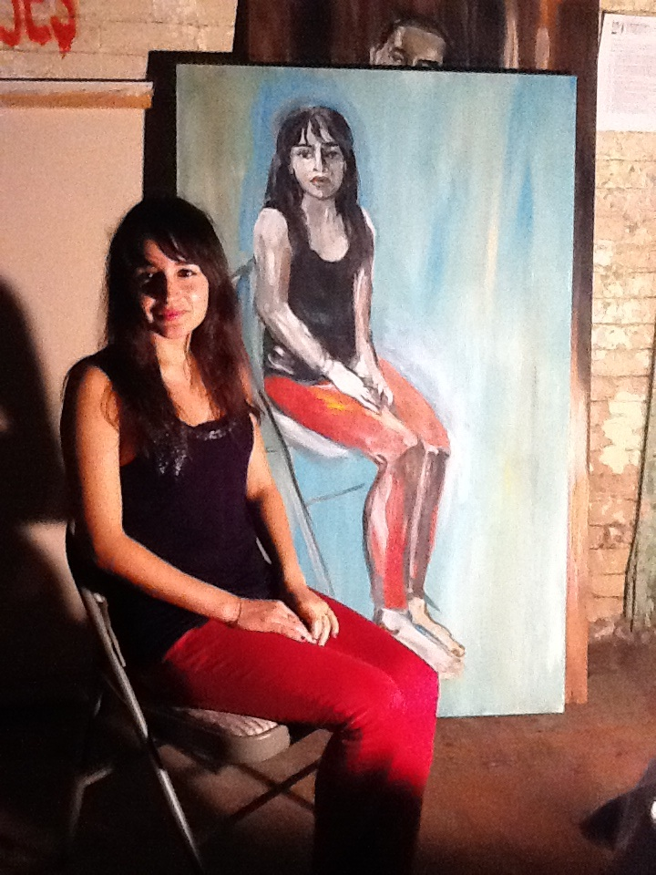 Eve Hennessa Live painting ARt soiree DC liveportrait